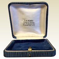 Vintage Blue Leatherette Jewelry Display Presentation Box