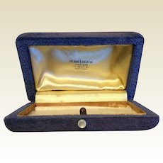 Vintage Blue Velvet Jewelry Display Presentation Box
