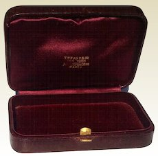 Vintage Tiffany & Co. Brown Leather Jewelry Display Presentation Box