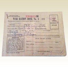 Vintage World War 11 Ration  Stamp Book #3