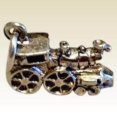 Vintage Sterling Silver Locomotive Charm