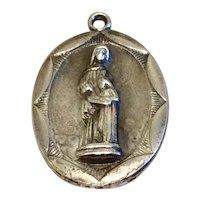 Vintage Silver Tone Metal Saint Dominic Medal