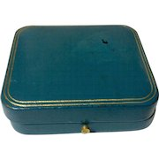 Vintage Classic  Tiffany & Co. Blue Leather Jewelry Display Presentation Box