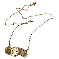 Vintage 14 K Gold Child's Buckle Barrette Conversion Necklace - Red Tag Sale Item