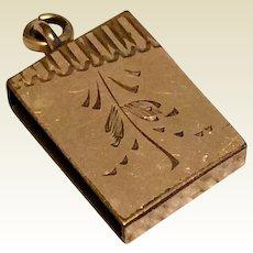 Victorian Gold Filled Slide For Grosgrain Ribbon Watch Fob