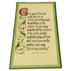 Vintage Happy Holiday Season & Most Prosperious New Years Card