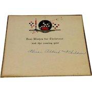 Vintage Art Deco Christmas Greeting Card