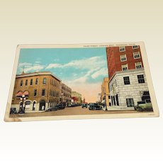 Vintage View Of Third Street Texarkana, Texas Post Card