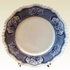 Booths English Blue & White Stone China Victoria Pattern