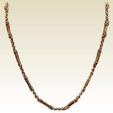 Vintage Gold Filled Fancy Link Chain Necklace