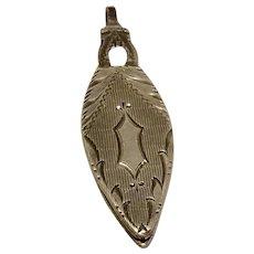 Vintage Sterling Silver Sacred Heart Of Jesus Scapular Religious Locket