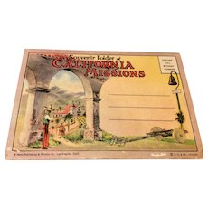 Vintage Souvenir Folder Of California Missions