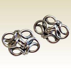 Vintage Sterling Silver Clip Earring