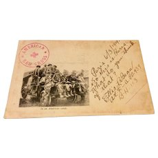 World War 1 Post Card Soldiers Mail