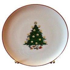 B C Clark's Vintage Christmas Tree Plate 1979 81st Year