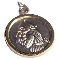 Vintage Silver Tone Metal St. Joseph Catholic Medal