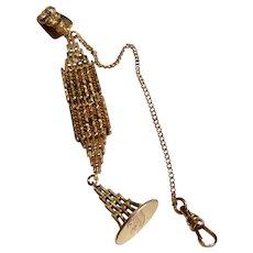 Wonderful Antique Victorian Gold Filled Pocket Watch Holder & Fob