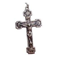 Sterling Silver Catholic Crucifix
