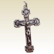 Vintage Sterling Silver Catholic Crucifix