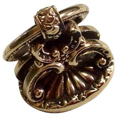Antique Victorian 10 K Gold Fancy Watch Fob