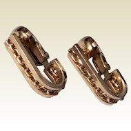 Vintage Winard 12 K Gold Filled Clip Earrings