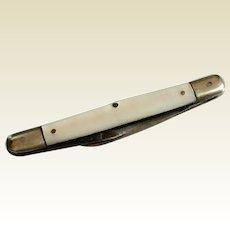 Vintage German Rockford Cutlery Mother Of Pearl Handle Pocket Knife