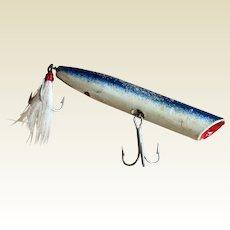 "Vintage Large 6 1/8"" Wooden Fishing Lure"