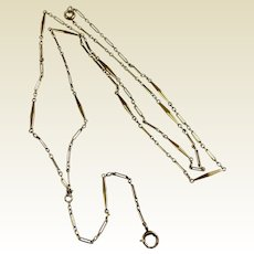 Victorian 14 K Gold Lorgnette Chain