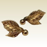 Vintage Van Dell 12 K Gold Filled Screw Back Earrings