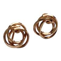 12 K Gold Filled Van Dell Screw Back Earrings