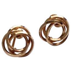 Vintage 12 K Gold Filled Van Dell Screw Back Earrings