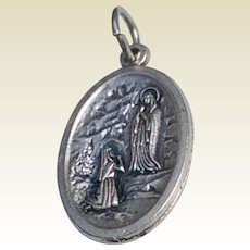 Our Lady Of Lourdes St. Bernadette Catholic Medal