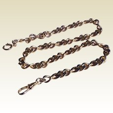 """Vintage Gold Plate 14"""" Watch Chain"""