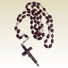 Early Brown Seed Pod Reliquary Rosary