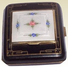Art Deco Guilloche Enamel Ripley & Gowen Compact Cigarette Business Card Case Marked La Mode