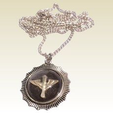 Vintage Sterling Silver Army Air Corps Pendant Necklaces