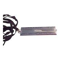 Sterling Black Enameled Folding Comb