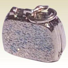 Vintage Sterling Silver Purse Charm
