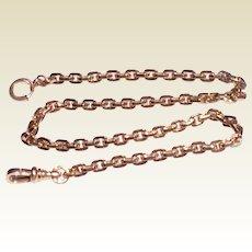 Vintage 12 K Gold Filled Square Link Pocket Watch Chain