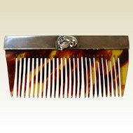 Vintage Sterling Silver Hair Comb