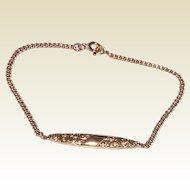 Vintage Upcycled Gold Filled Baby Pin Bracelet