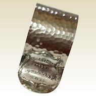Vintage Silverplate Hammered Gulfport Mississippi Napkin Ring