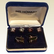 Vintage Mel Howard Designs Dress Tuxedo Set In Original Box