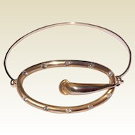 Vintage Upcycled Gold Filled Buckle Brooch Bangle Bracelet