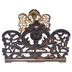 Art Nouveau Expandable Collapsible Iron Book Holder