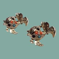 Two Vintage Silver Tone Metal Fish Scatter Pins