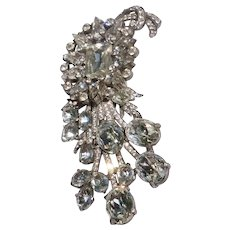 Amazing Eisenberg Original Hugh Rhinestone Fur Clip Shower Of Stars