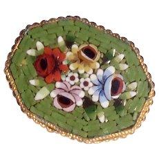 Vintage Italian Grand Tour Micro Mosaic Brooch
