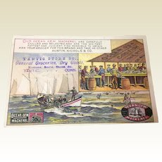 Victorian Trade Card Ocean Gem Mackerel