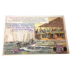 Victorian Trade Card Ocean Gem Mackerel